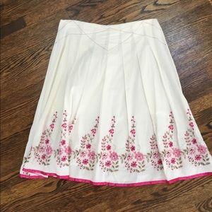 White 100% Cotton Skirt